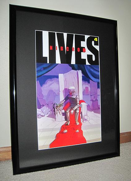 Nibcrom Lives, Akira art framed